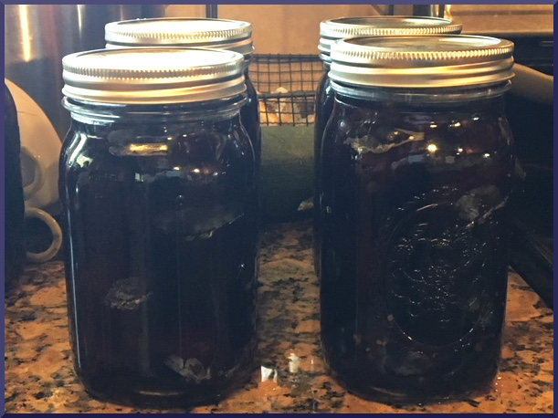 Canning whole purple plums