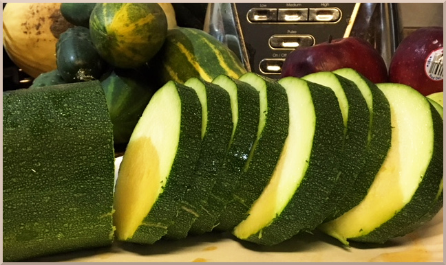 Slice the Zucchini