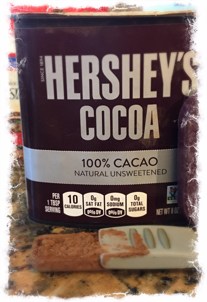 Add the hershey's cocoa to the blender